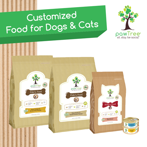 customized pet food by pawtree